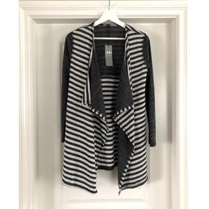 Sweaters - COIN 1804 Knit Grey Striped Cardigan